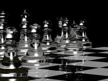 Chess Board Render In Black & White Stock Photo