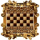 Chess Board with rich ornamentation. With shapes.  Royalty Free Stock Images