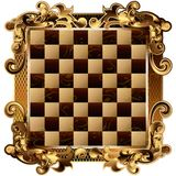 Chess Board with rich ornamentation. (Vector) Stock Photography