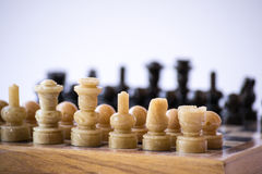 Chess board from the right corner Royalty Free Stock Photos