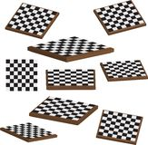 Chess board set 3d  Royalty Free Stock Image