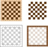 Chess board set  illustration Stock Photo