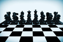 Chess board set up to begin a game Royalty Free Stock Photos