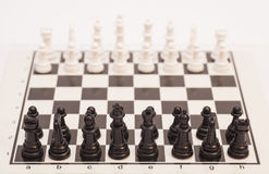 Chess board set up to begin a game Stock Photos