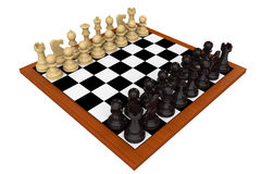 Chess board set up to begin a game Stock Image