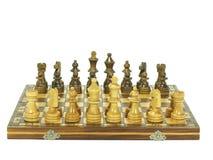 Chess board setup Royalty Free Stock Photography