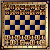 Chess Board. With shapes. (Vector) Royalty Free Stock Image