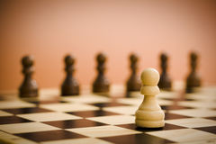 Chess board soldier Stock Image
