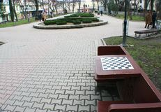 Chess board square in Ivano-Frankivsk Royalty Free Stock Photography