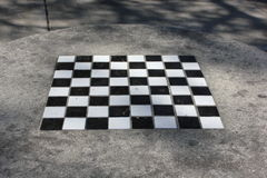 Chess board in table Royalty Free Stock Photos