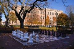 Chess board in tasmania Stock Photos