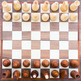 Chess board top view Stock Images