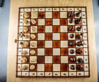 Chess board top view Royalty Free Stock Photography