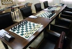 Chess. Board with .  tournament Royalty Free Stock Image