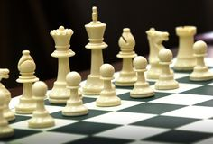 Chess. Board with .  tournament Royalty Free Stock Photos