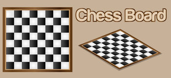 Chess Board. Vector Ilustration, easy to edit and change color. EPS 10 royalty free illustration