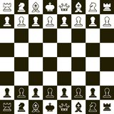 Chess Board. Top View Chess Pieces. Chess Board. Vector Top View Chess Pieces stock illustration