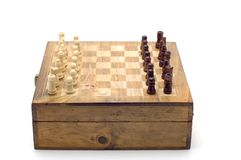 Chess board on white Stock Image