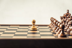 Chess on board  white background. Confrontation concept Stock Image