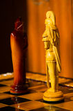 Chess board. wooden figures Stock Photography