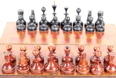 Chess on board Royalty Free Stock Image