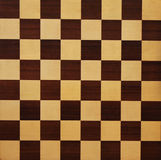 Chess Board. Wooden chess board texture Royalty Free Stock Image