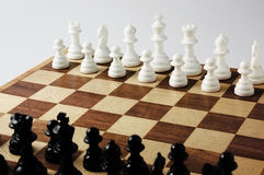 Chess boards and chess pieces. Close-up photography Royalty Free Stock Image