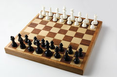 Chess boards and chess pieces. Close-up photography Stock Images