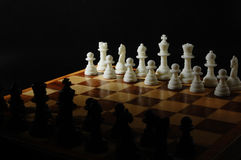 Chess boards and chess pieces. Close-up photography Royalty Free Stock Photography