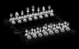 Chess body structure Stock Image