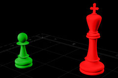 Chess body structure Stock Photo