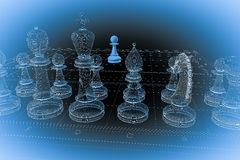 Chess body structure Stock Photography