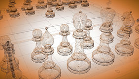 Chess body structure Royalty Free Stock Photography