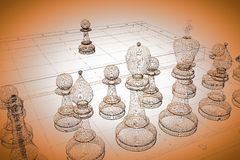Chess body structure Royalty Free Stock Photos