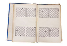 Chess book pages Stock Image