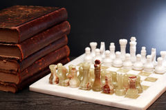 Chess And Books Stock Images