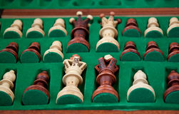 Chess in the box. Hand made chess in the box Royalty Free Stock Images