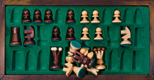 Chess in box Royalty Free Stock Images