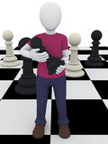 Chess boy Royalty Free Stock Photography
