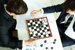 Chess business Royalty Free Stock Photo