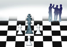 Chess and business Stock Image