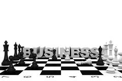 Chess business Royalty Free Stock Image