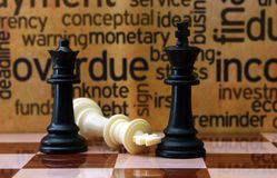 Chess and business concept Stock Images