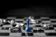 Chess business concept, leader & success Royalty Free Stock Photography