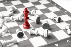 Chess business concept, leader & success from top view. SONY A7 Stock Image