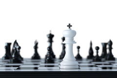 Chess business concept. Leader and teamwork concept for success. Chess business concept. 3d rendering illustration Stock Image