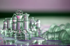 Chess - business concept series: win, checkmate Royalty Free Stock Photo