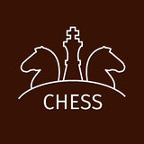 Chess business strategy logo Royalty Free Stock Photo