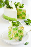 Chess cake with pistachios Stock Image