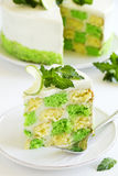 Chess cake with pistachios Royalty Free Stock Image